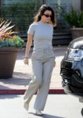 Kourtney Kardashian sports all grey ensemble while out for lunch with Harry Hudson in Los Angeles