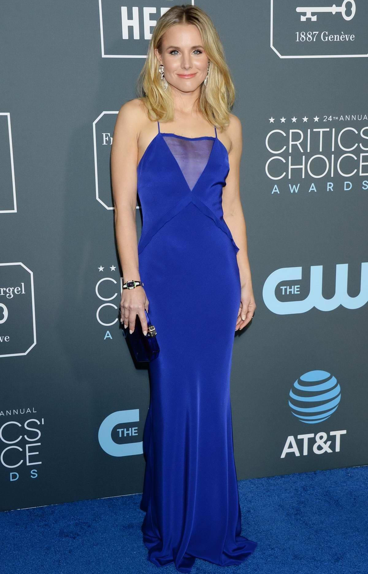 Kristen Bell attends the 24th Annual Critics' Choice Awards at Barker Hangar in Santa Monica, California