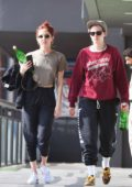 Kristen Stewart and girlfriend Sara Dinkin leave a gym in Hollywood, Los Angeles