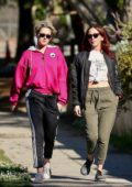 Kristen Stewart and girlfriend Sara Dinkin steps out for a morning hike in Los Feliz, California