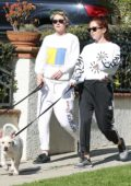 Kristen Stewart and girlfriend Sara Dinkin steps out to walk their dogs in Los Angeles