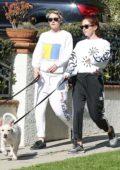 Kristen Stewart and girlfriend Sara Dinkin steps out to walk their dogs in Los Angeles