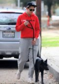 Kristen Stewart enjoys a hike out with her dog and friends in Los Angeles
