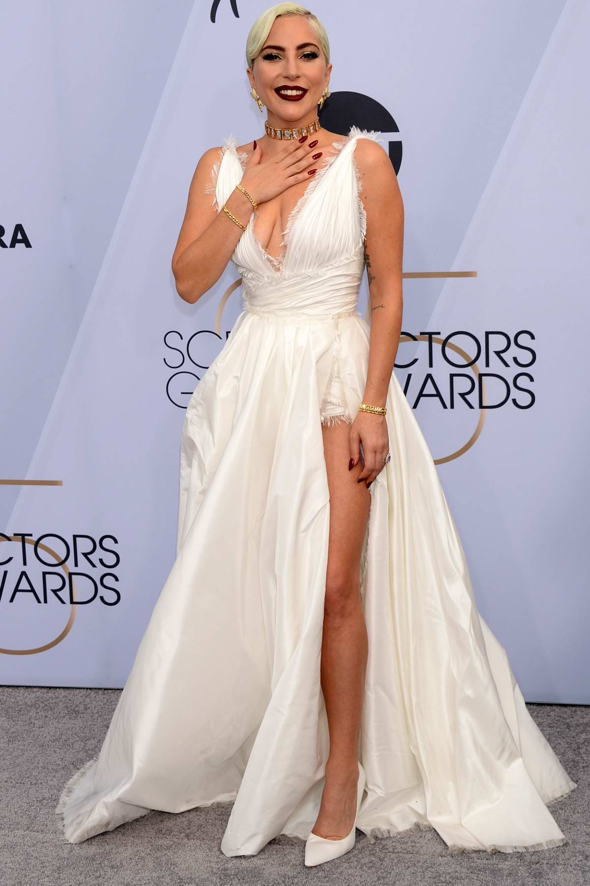 Lady Gaga attends the 25th Annual Screen Actors Guild Awards (SAG 2019) at the Shrine Auditorium in Los Angeles