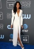 Laura Harrier attends the 24th Annual Critics' Choice Awards at Barker Hangar in Santa Monica, California