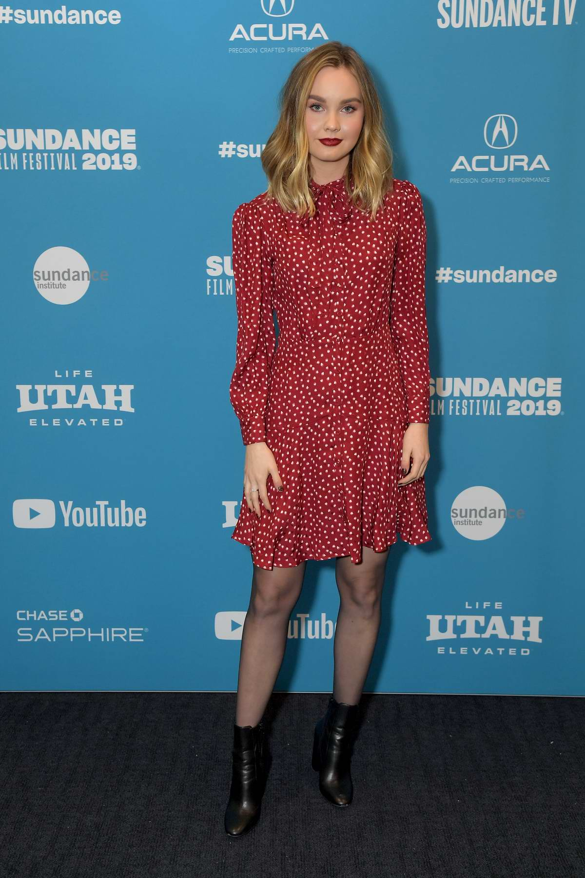 Liana Liberato attends 'To The Stars' Premiere during Sundance Film Festival in Park City, Utah
