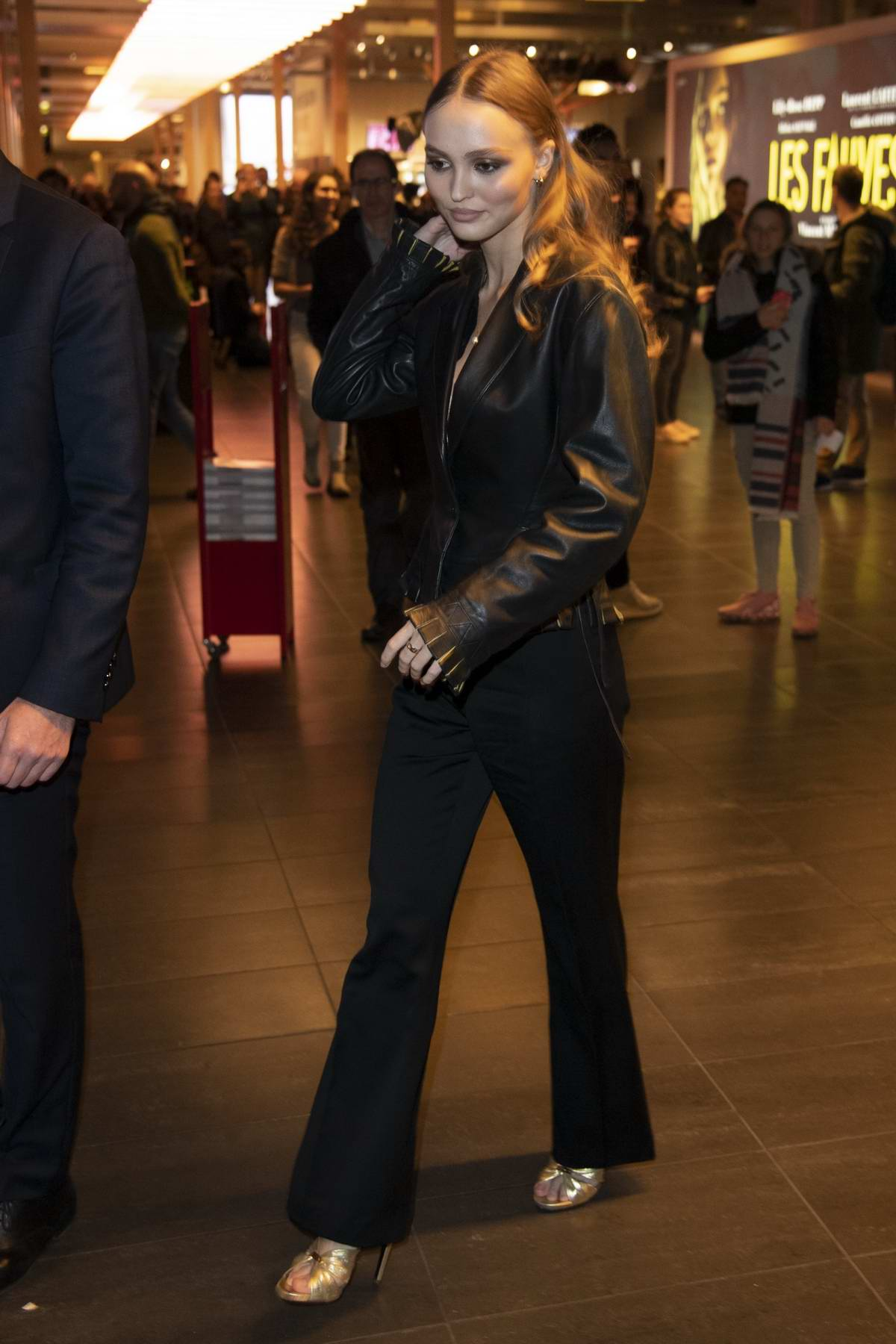 Lily-Rose Depp attends the premiere of 'Les Fauves' held at the MK2 cinema in Paris, France