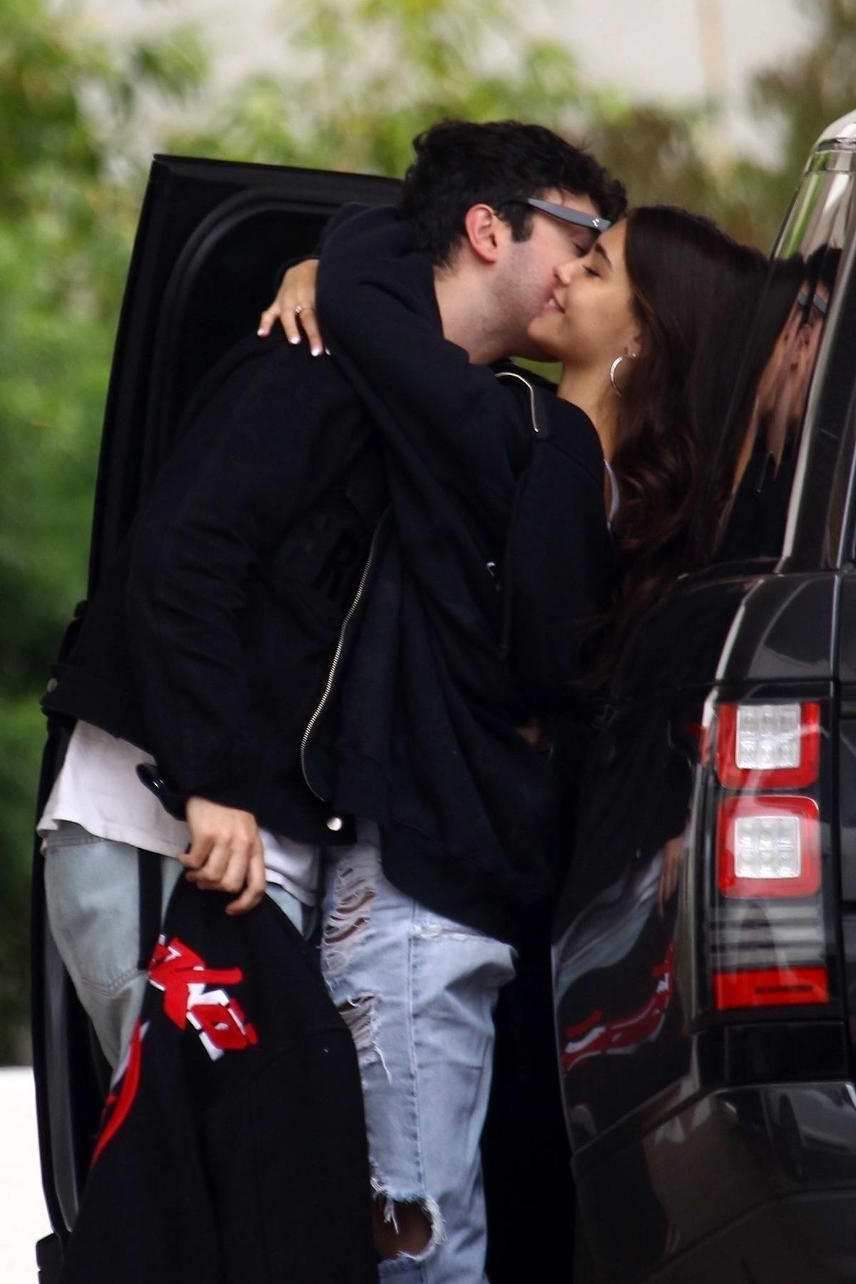 Madison Beer and Zack Bea pack on some PDA while out in Beverly Hills, Los Angeles