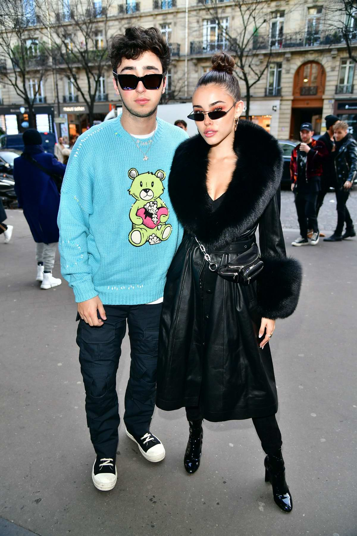 Madison Beer and Zack Bia attends the Amiri Paris Menswear Fall/Winter 2019/20 Show during Paris Fashion Week in Paris, France