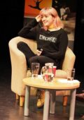 Maisie Williams attends a Q & A Session at the University of Chichester in West Sussex, UK