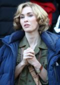 Megan Fox spotted during the filming of the Korean War film 'The Battle of Jangsari' in Chuncheon, South Korea