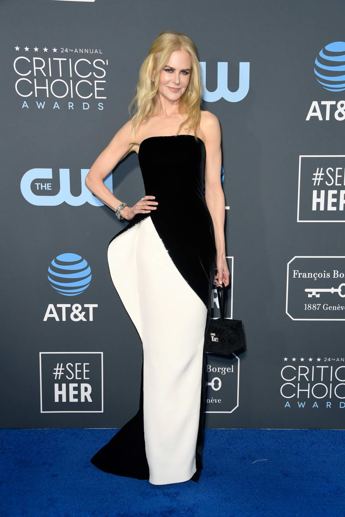 Nicole Kidman attends the 24th Annual Critics' Choice Awards at Barker Hangar in Santa Monica, California
