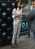 Nina Dobrev makes an appearance on 'EXTRA' at Universal Studios in Universal City, California