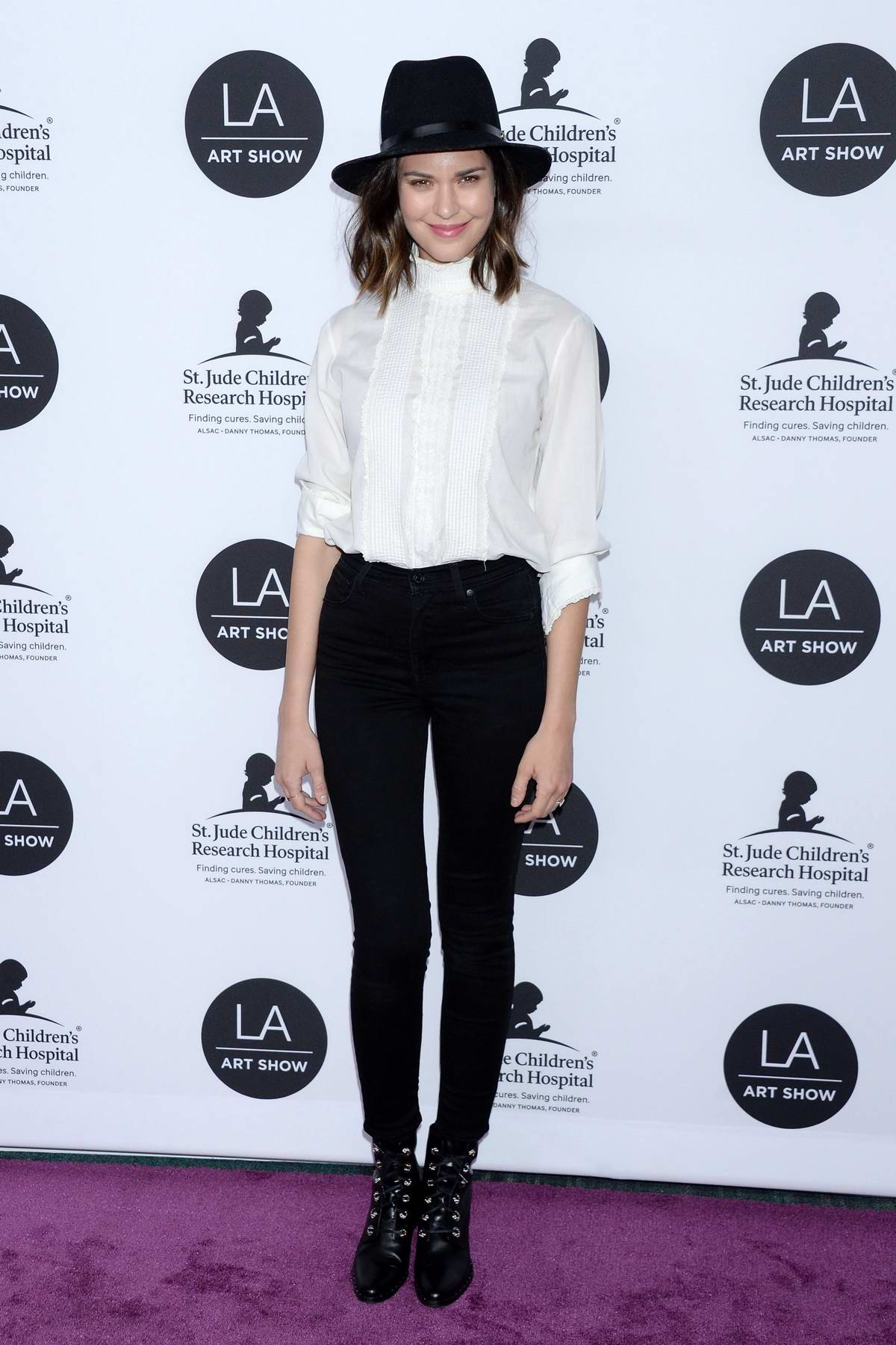 Odette Annable attends the 24th Annual LA Art Show held at The Convention Center in Los Angeles