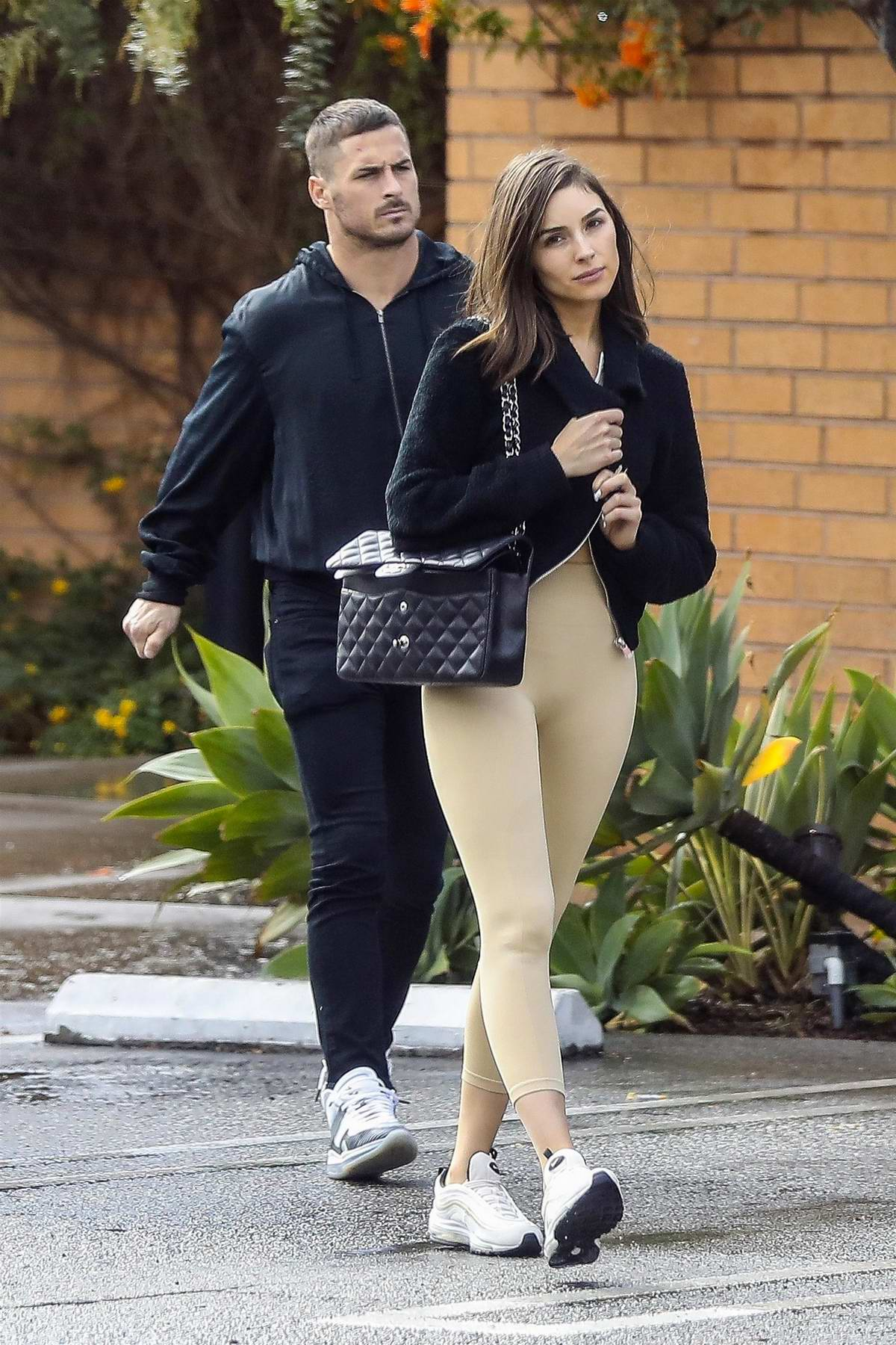 Olivia Culpo enjoys a lunch date with Danny Amendola in West Hollywood, Los Angeles