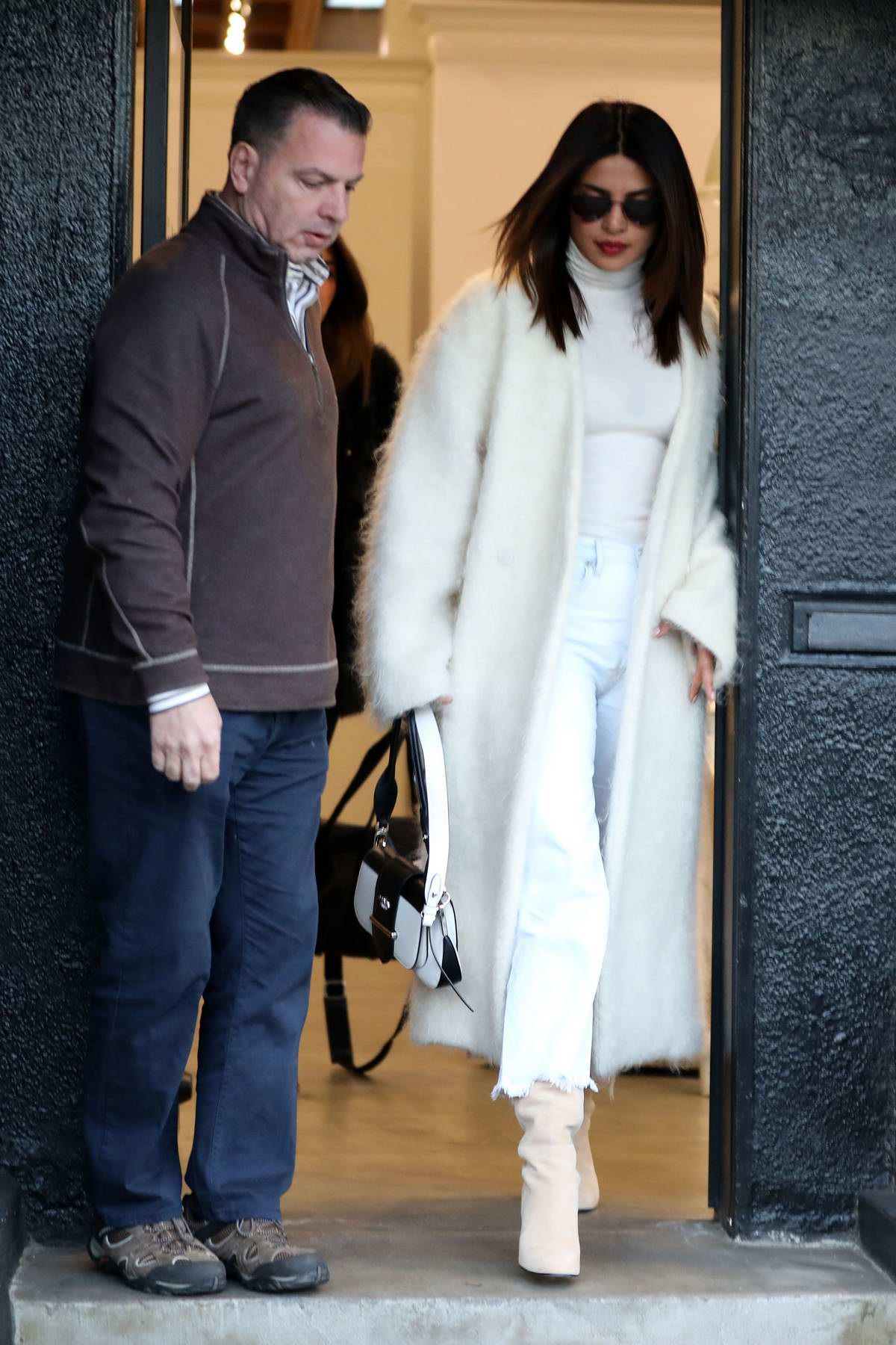 Priyanka Chopra Jonas leaves a Hair Salon clad in American Eagle Jeans in Los Angeles