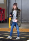 Rachel Bilson snack on some chik Fil A while shopping at Target in Los Angeles