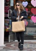 Rachel Bilson wore a black puffer jacket while out shopping at Paper Source in Studio City, Los Angeles