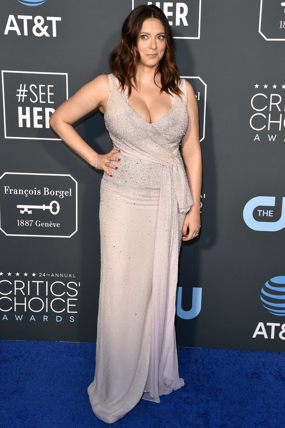 Rachel Bloom attends the 24th Annual Critics' Choice Awards at Barker Hangar in Santa Monica, California