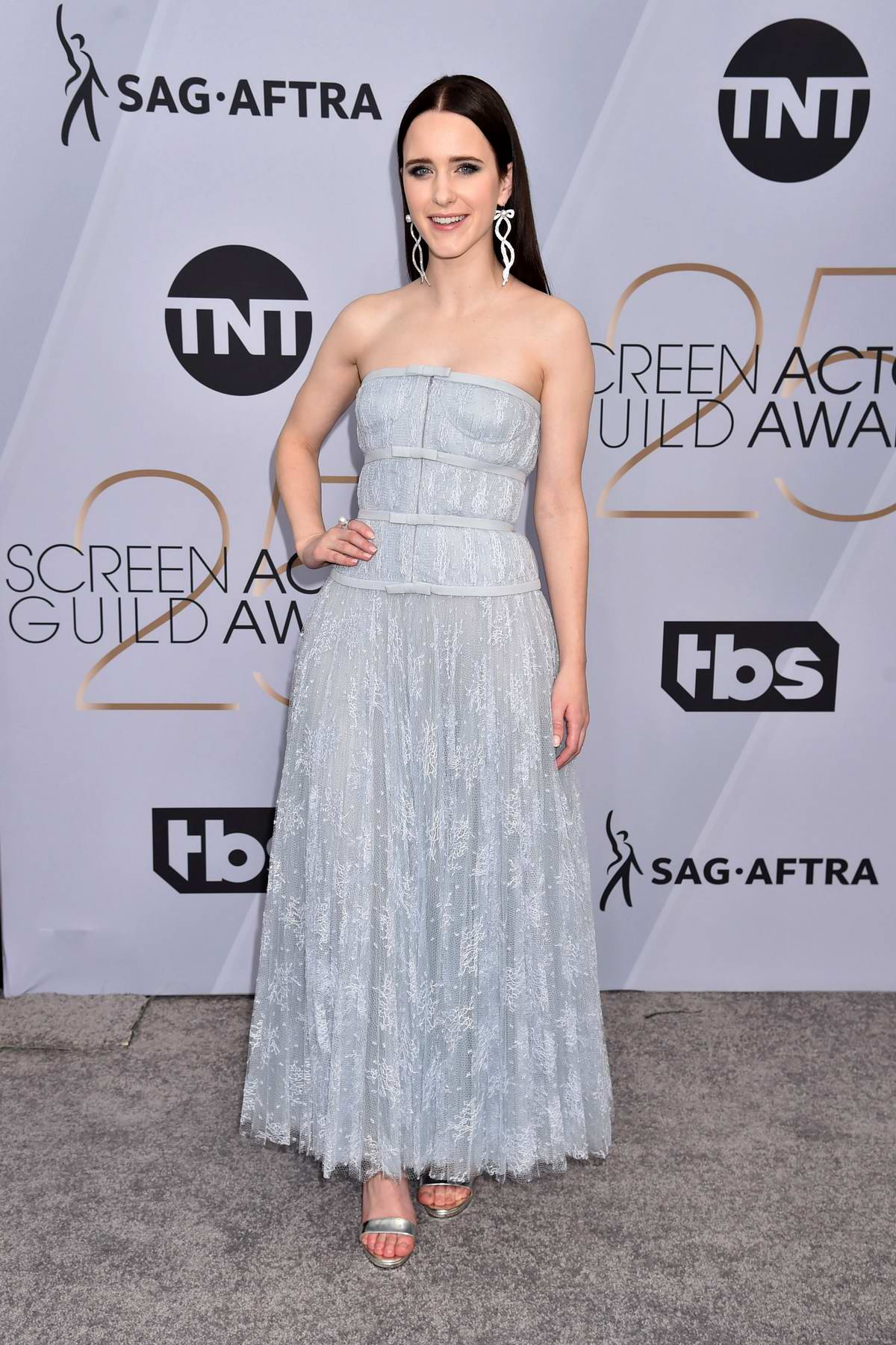 Rachel Brosnahan attends the 25th Annual Screen Actors Guild Awards (SAG 2019) at the Shrine Auditorium in Los Angeles