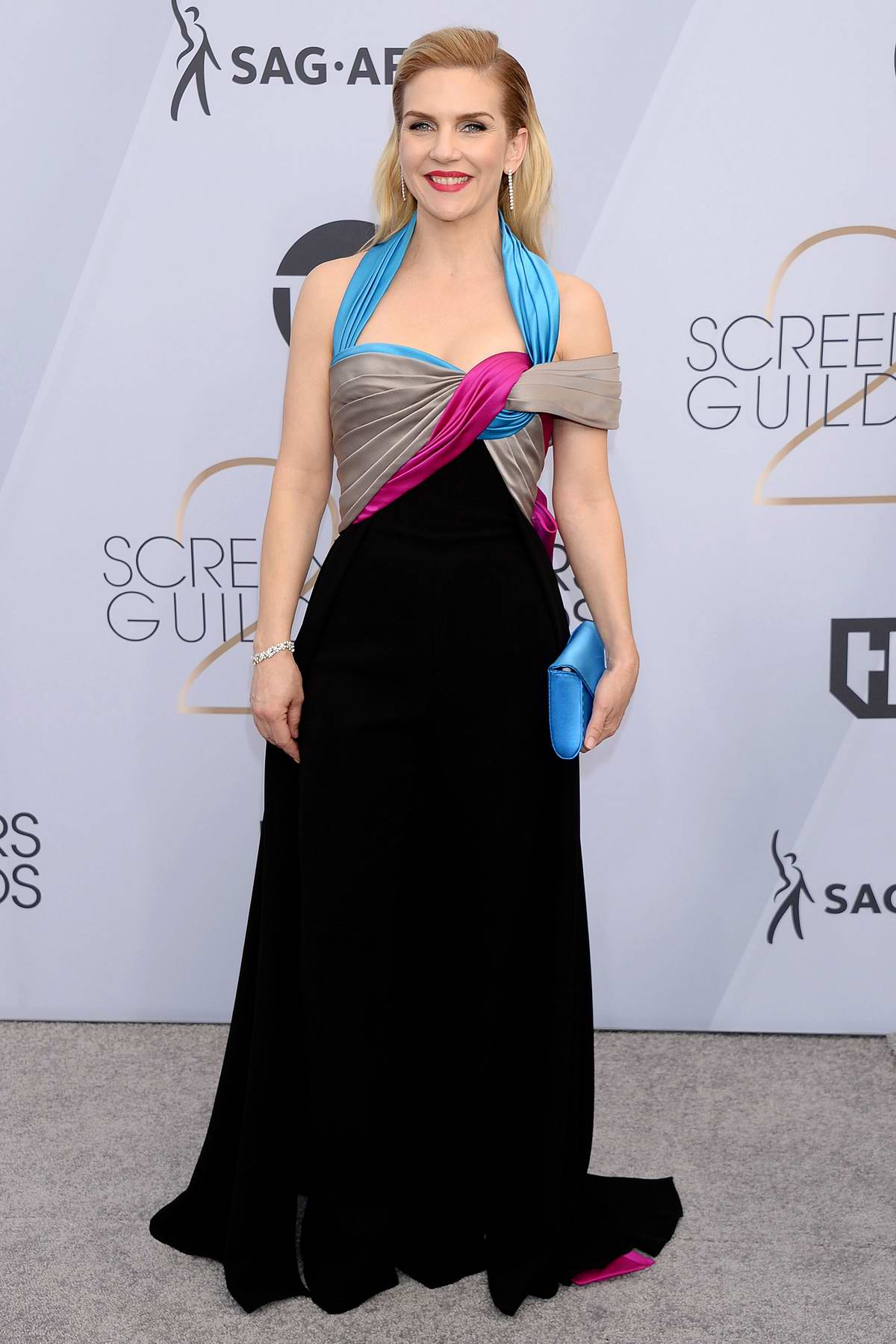 Rhea Seehorn attends the 25th Annual Screen Actors Guild Awards (SAG 2019) at the Shrine Auditorium in Los Angeles