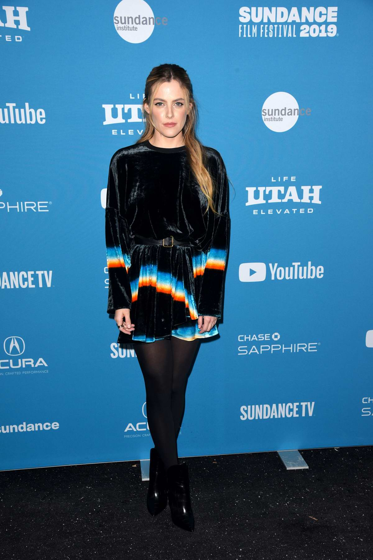 Riley Keough attends 'The Lodge' premiere at Sundance Film Festival in Park City, Utah