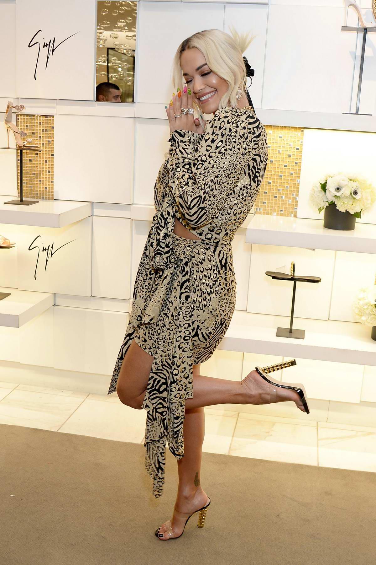 Rita Ora at the Giuseppe for Rita Ora Footwear Launch in Los Angeles
