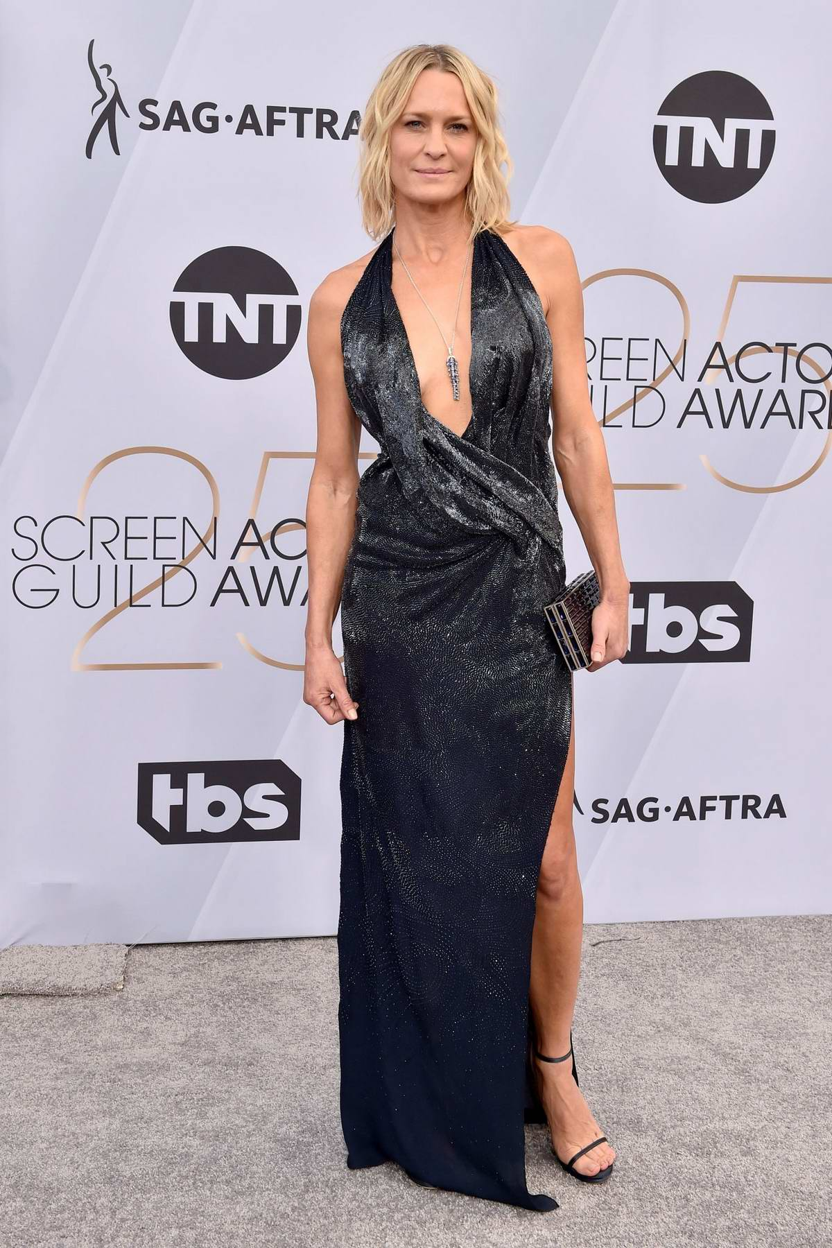 Robin Wright attends the 25th Annual Screen Actors Guild Awards (SAG 2019) at the Shrine Auditorium in Los Angeles