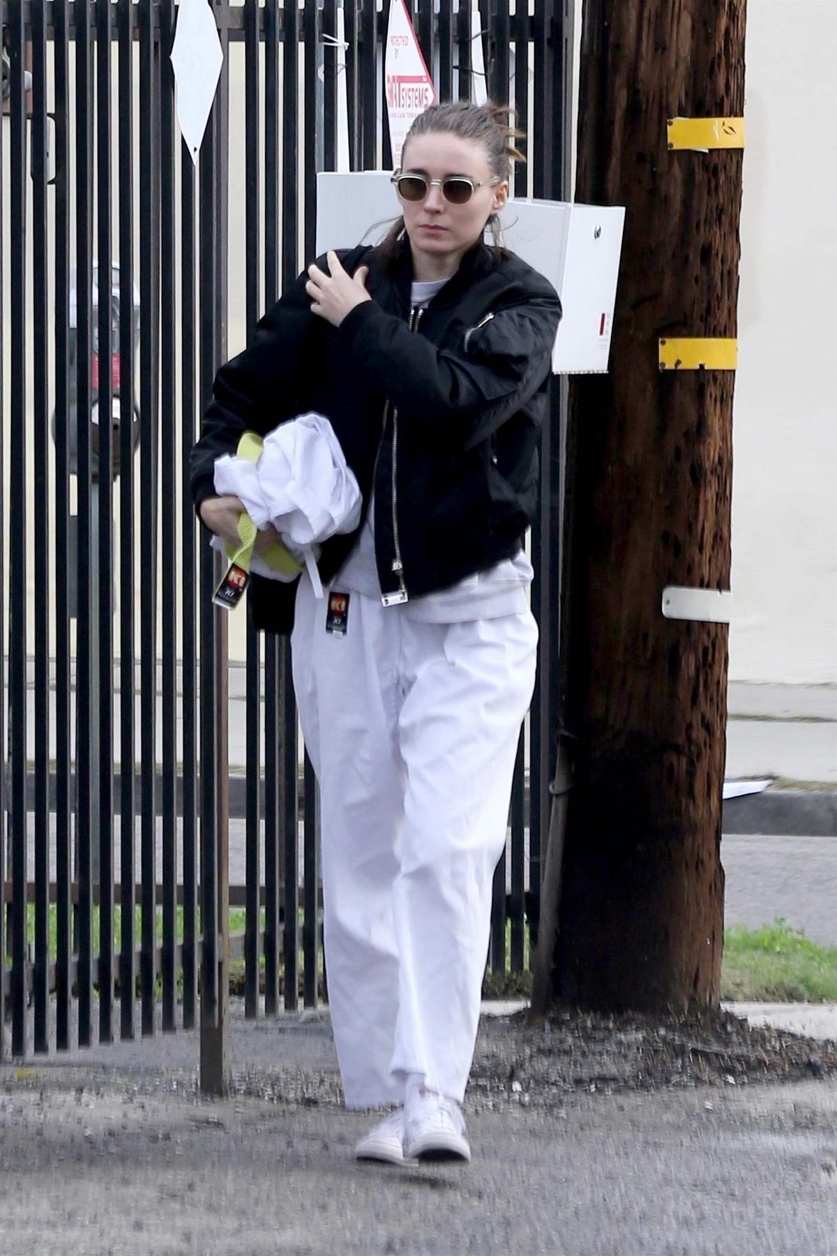Rooney Mara arrives for her karate class in Beverly Hills, Los Angeles