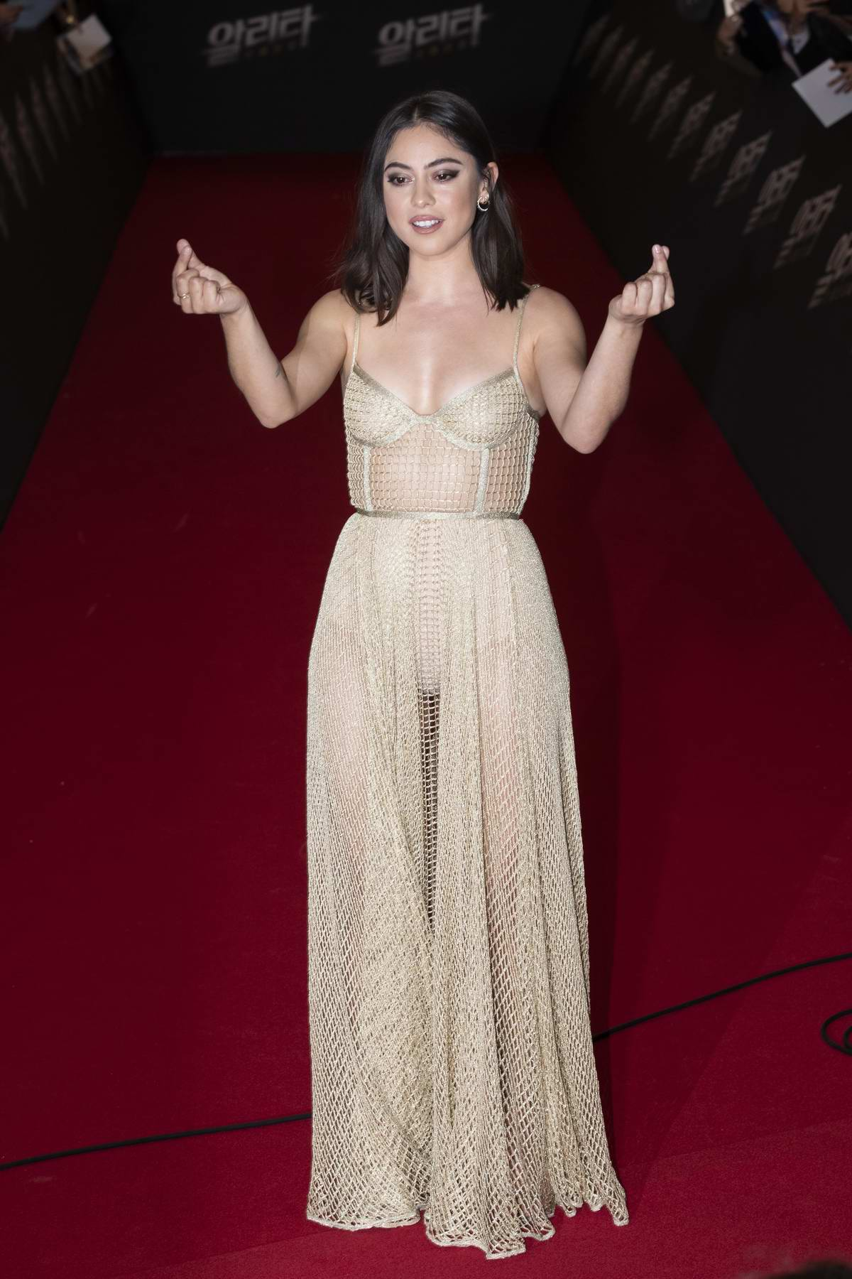 Rosa Salazar attends the Premiere of Alita: Battle Angel in Seoul, South Korea