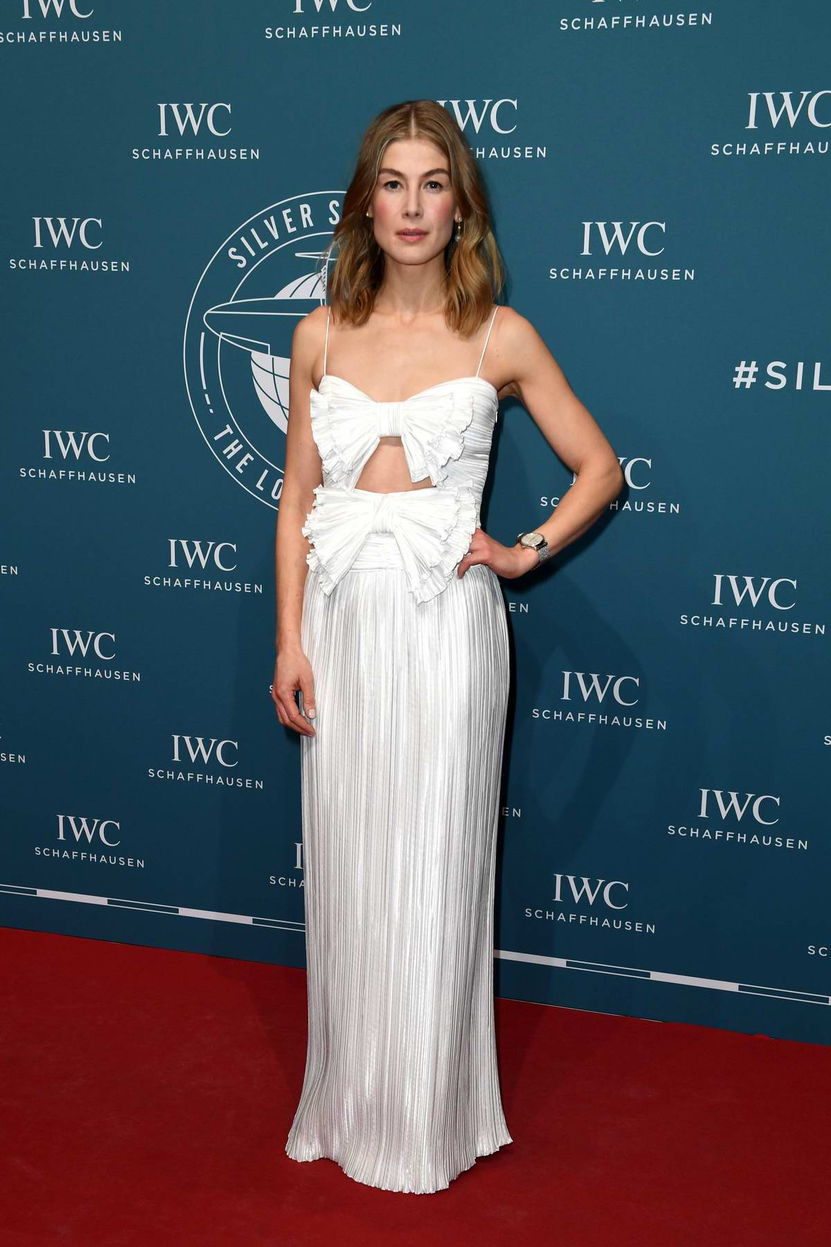 Rosamund Pike attends IWC Schaffhausen at SIHH 2019 in Geneva, Switzerland