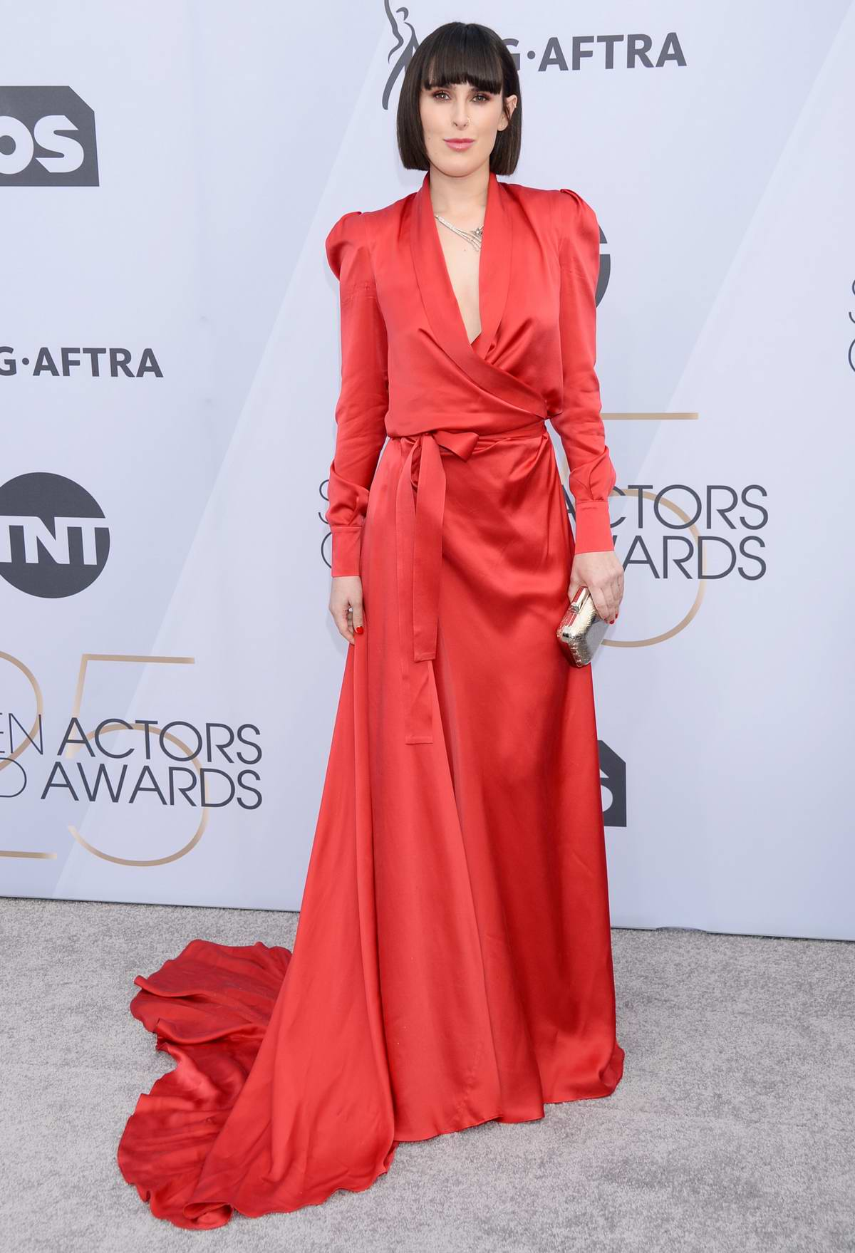 Rumer Willis attends the 25th Annual Screen Actors Guild Awards (SAG 2019) at the Shrine Auditorium in Los Angeles