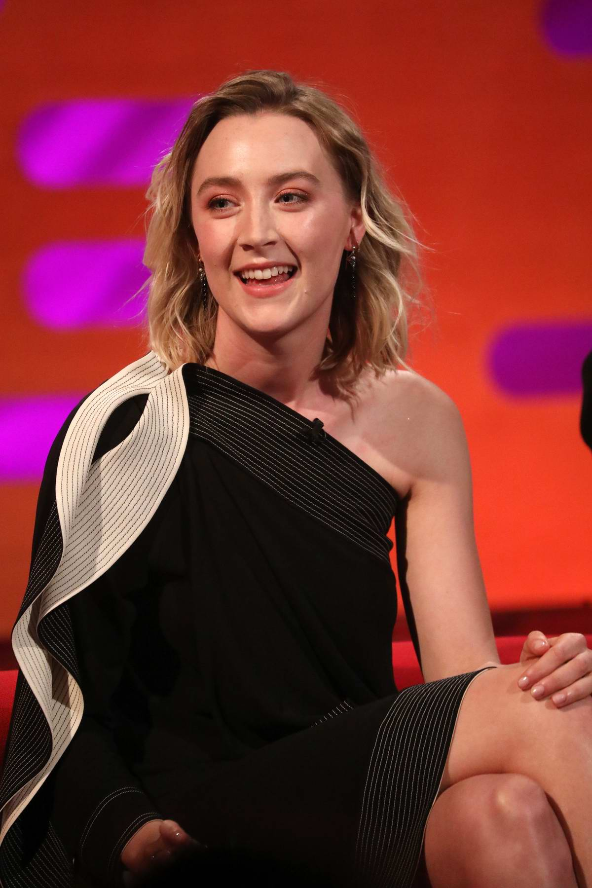 Saoirse Ronan makes an appearance on The Graham Norton Show in London, UK