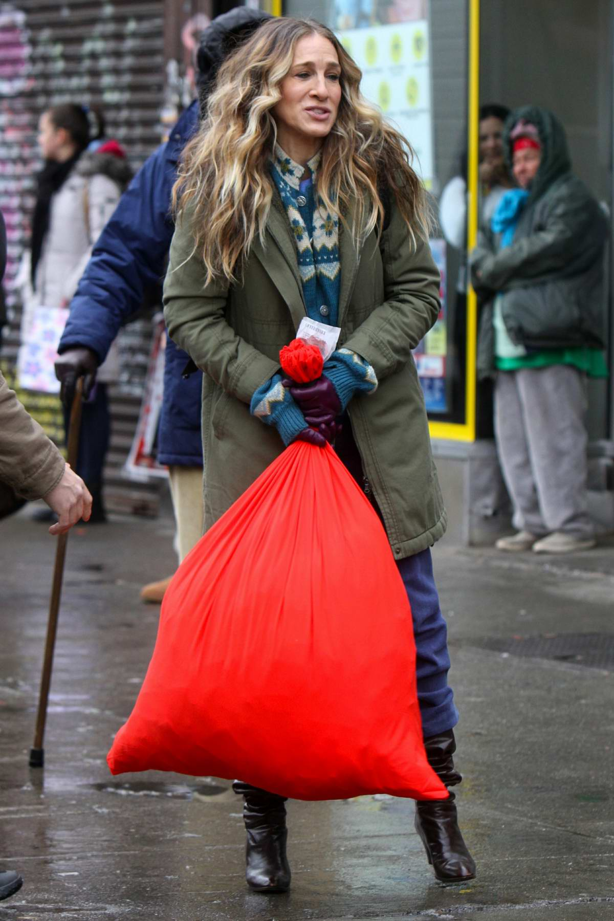 Sarah Jessica Parker spotted on the set of 'Divorce' in New York City