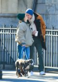Sienna Miller and new boyfriend Lucas Zwirner share a kiss while out in New York City