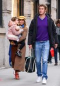 Sienna Miller steps out with her daughter and new boyfriend Lucas Zwirner in New York City