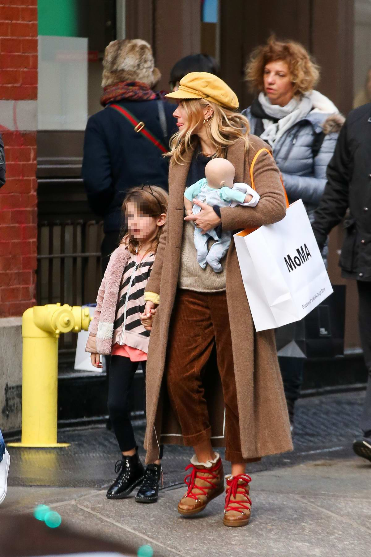 sienna miller steps out with her daughter and new