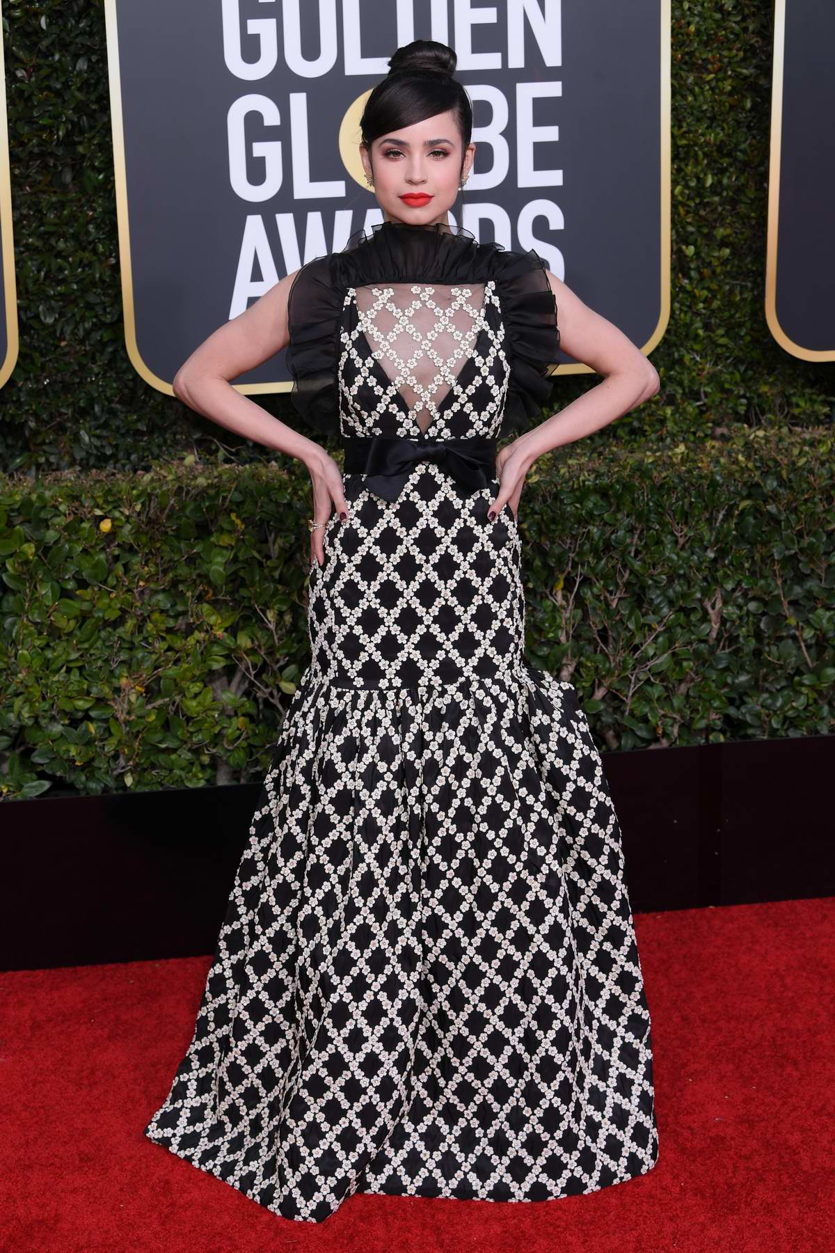 Sofia Carson attends the 76th Annual Golden Globe Awards held at The Beverly Hilton Hotel in Los Angeles, California