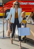 Stacy Keibler enjoys lunch with her girlfriends in Beverly Hills, Los Angeles