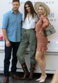 Taylor Hill and Michael Stephen Shank stop by the Ralph Lauren Pop Up Shop in Hollywood, California
