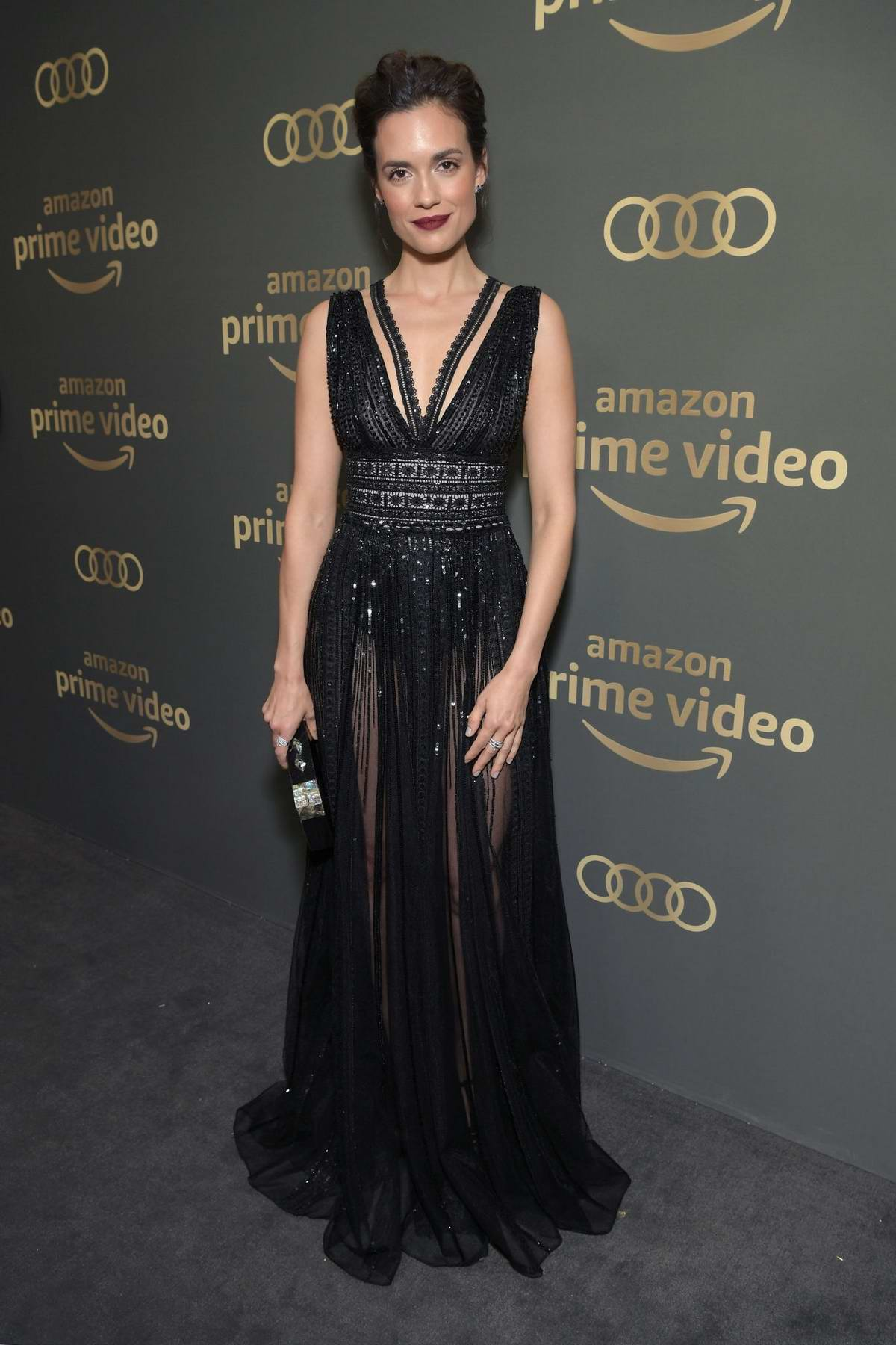 Torrey DeVitto attends the Amazon Prime Video's Golden Globe Awards After Party at the Beverly Hilton Hotel in Beverly Hills, California