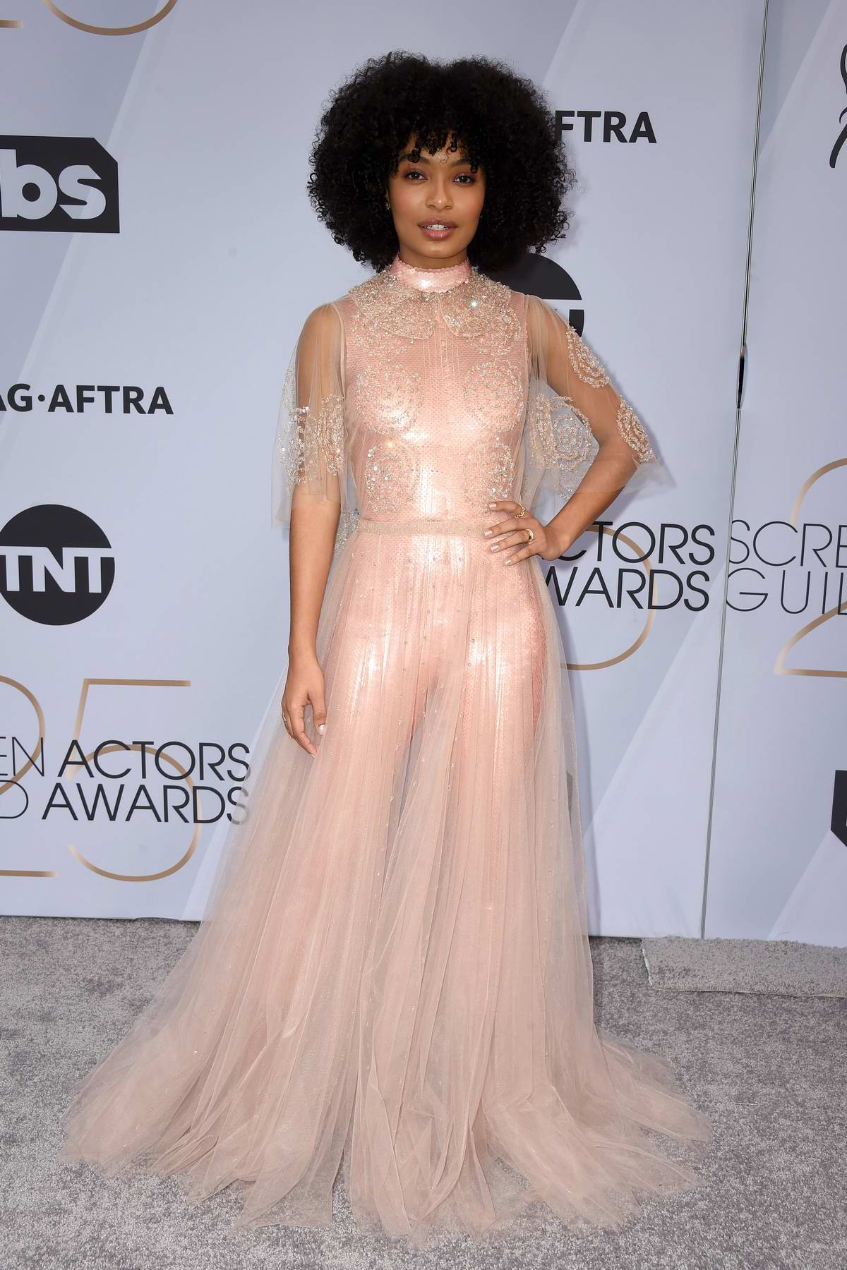 Yara Shahidi attends the 25th Annual Screen Actors Guild Awards (SAG 2019) at the Shrine Auditorium in Los Angeles