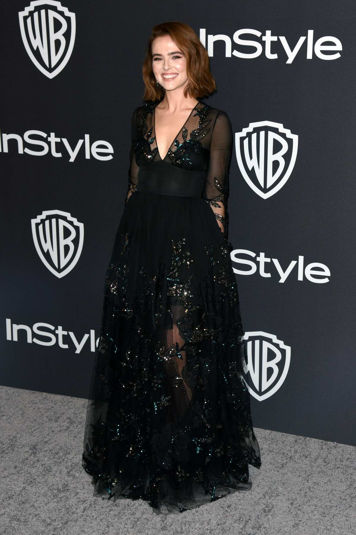 Zoey Deutch attends InStyle and Warner Bros Golden Globe After Party 2019 at Beverly Hilton Hotel in Beverly Hills, California
