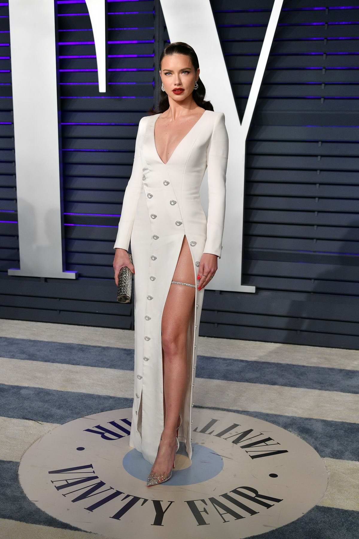Adriana Lima attends the Vanity Fair Oscar Party at Wallis Annenberg Center for the Performing Arts in Beverly Hills, California