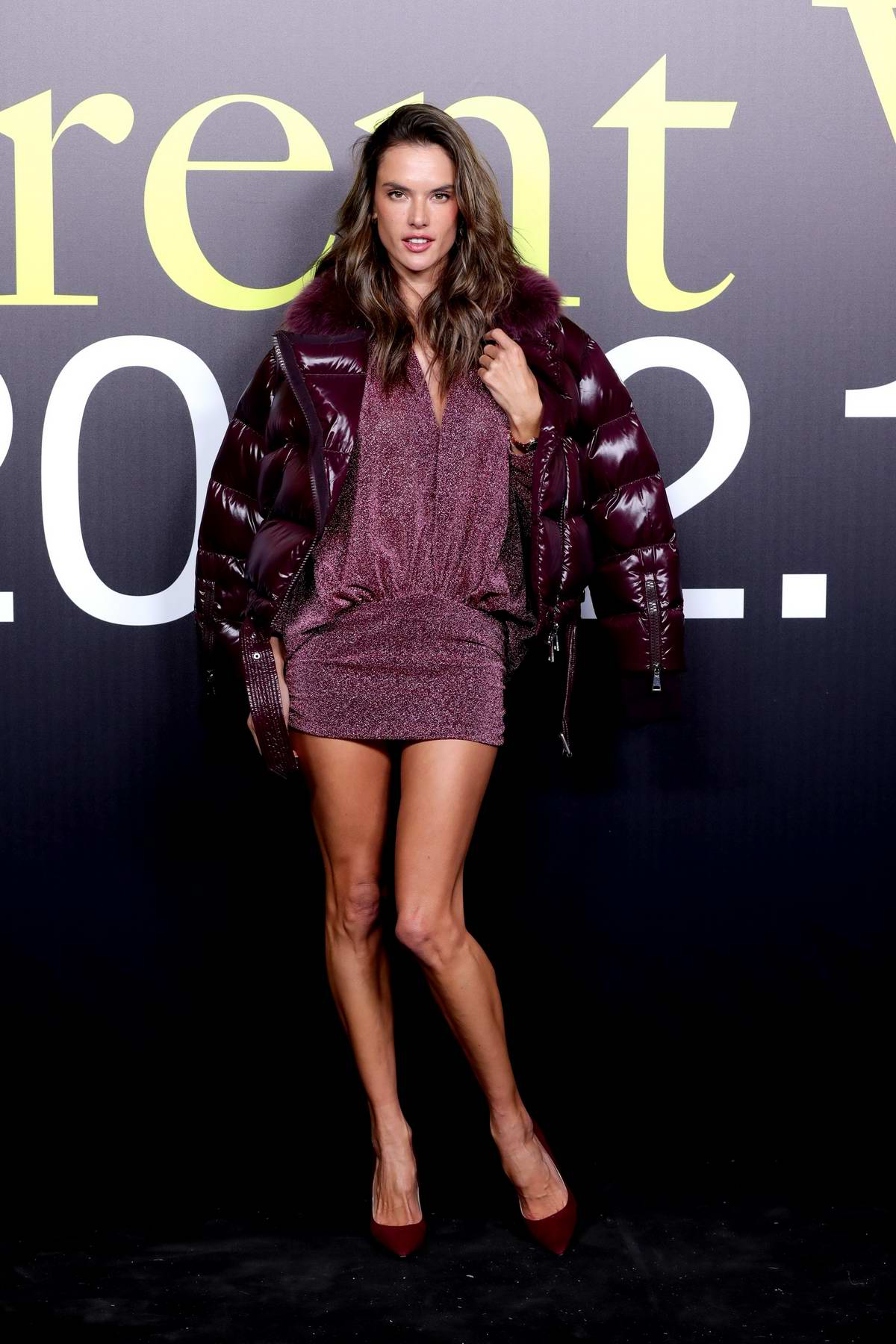 Alessandra Ambrosio attends the Moncler Genius Fall/Winter 2019 presentation during Milan Fashion Week in Milan, Italy