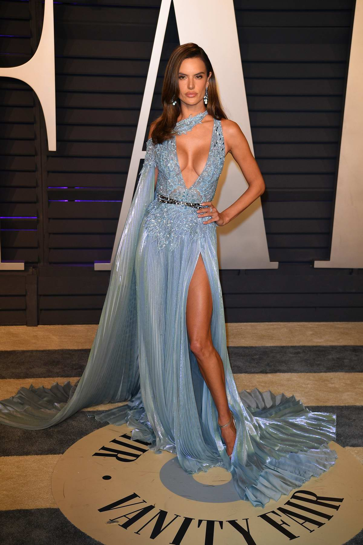 Alessandra Ambrosio attends the Vanity Fair Oscar Party at Wallis Annenberg Center for the Performing Arts in Beverly Hills, California