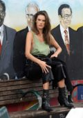 Alessandra Ambrosio poses in a green tank top for Elle Italy photoshoot in Little Havana, Miami, Florida