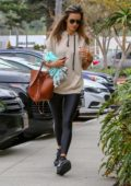 Alessandra Ambrosio starts off with a trip to the gym before stopping at SunLife Organics and a nail salon in Santa Monica, California