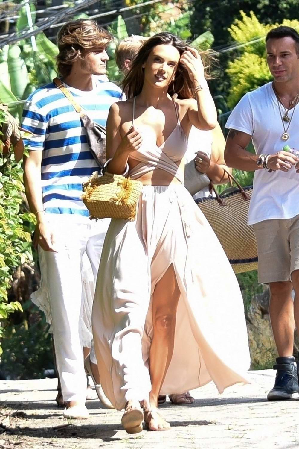 Alessandra Ambrosio steps out with friends in Florianópolis, Brazil