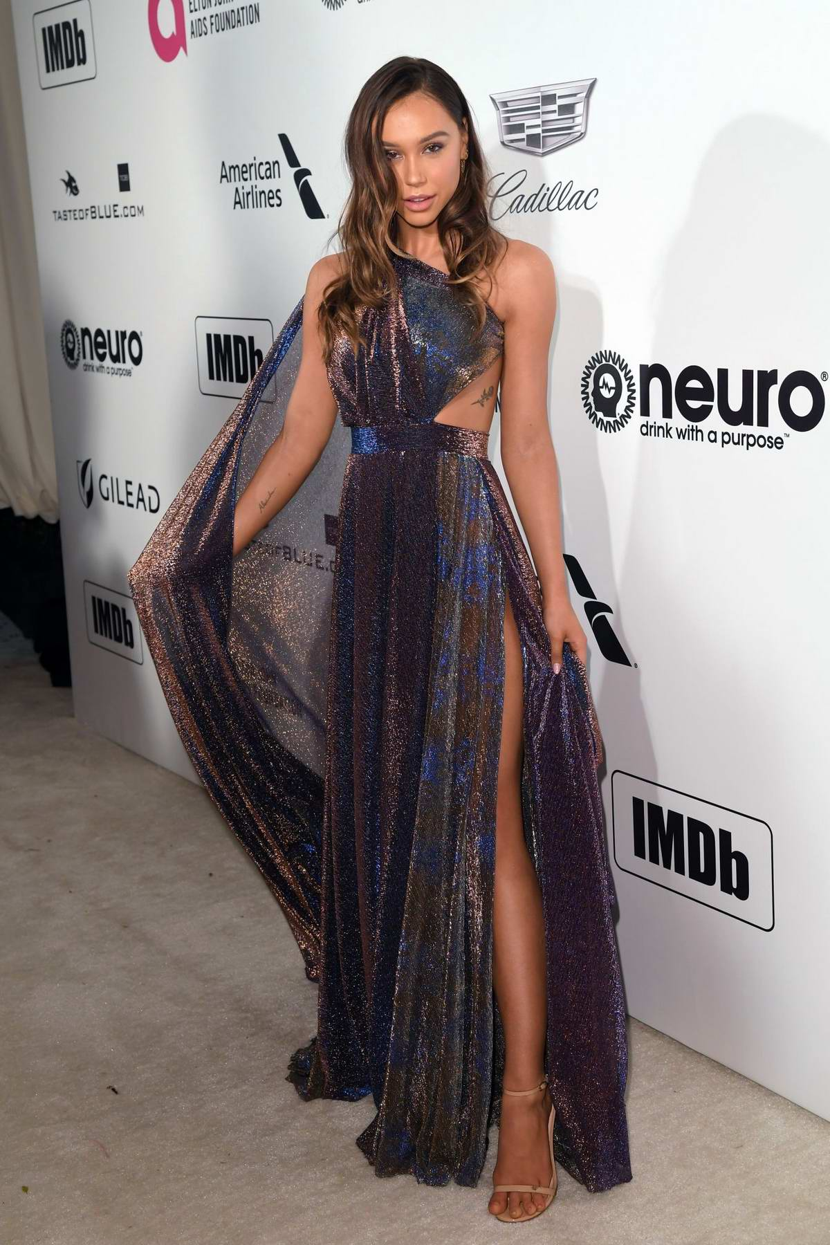 Alexis Ren attends the 27th Annual Elton John AIDS Foundation Academy Awards Viewing Party in West Hollywood, Los Angeles